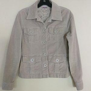 Beige corduroy utility jacket, juniors small